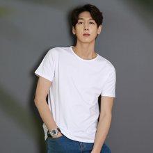 AMH2018夏季青年男短袖潮流简约打底百搭纯色t恤男装