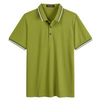 迪仕尼奴夏新品男士POLO衫短袖翻领纯色薄款T恤商务百搭打底衫8876A