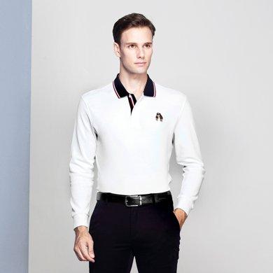 迪仕尼奴 長袖polo衫中年爸爸商務體恤衫0083
