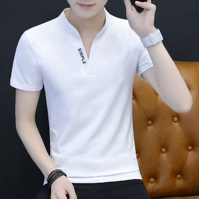 搭歌2019夏季新款男士短袖t恤韓版棉男式t恤運動LQ636#