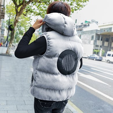 史克維斯馬甲男秋冬外套新款韓版潮流青年學生羽絨背心棉冬裝馬夾男MJ10