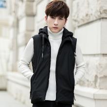 史克维斯秋冬季新款马甲青少年连帽韩版学生羽绒棉衣加厚保暖男士外套MJ8781SLEM