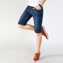 搭歌夏季新款男式牛仔短裤潮流时尚五分裤男士直筒中裤男装282#