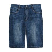 迪仕尼奴夏季新款男士牛仔短裤中腰宽松薄款五分裤直筒大码夏天裤341E