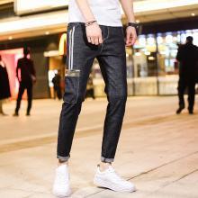 牛仔裤男潮牌修身小脚韩版潮流弹力显瘦2019春季新款九分牛子裤子MJ-390
