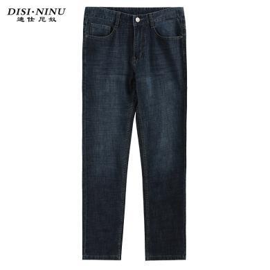 迪仕尼奴夏季新品男士薄款休闲牛仔裤柔软中腰直筒合体裤子百搭8359E