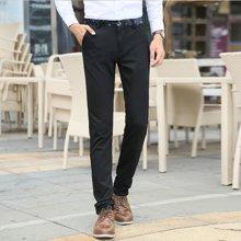 史克维斯秋季男裤韩版修身裤男裤男士休闲裤长裤黑色男生裤子潮流K8237
