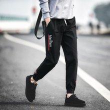 史克维斯秋装新款日韩休闲裤男纯棉修身男收腿小脚裤男九分束脚裤K1613