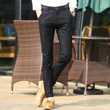 史克维斯休闲裤男青年弹力小脚修身长裤子男士直筒裤韩版时尚百搭春季款潮K8267