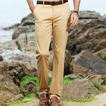 迪仕尼奴新款夏季男士商务休闲裤子高弹力宽松直筒薄款休闲裤8417D