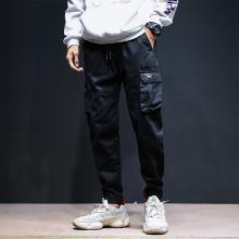 休閑褲男士秋季青年潮流工裝褲街頭時尚寬松哈倫褲JYF-106
