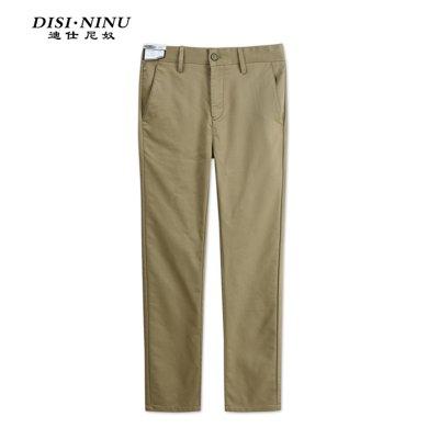 迪仕尼奴夏季新款男士休闲长裤夏季薄款修身直筒百搭裤子顺滑498D