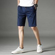 搭歌夏季新款男式休闲裤纯棉五分裤纯色男士跑步运动裤大码中裤A09