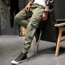 工装裤男潮牌束脚日系多口袋宽松小脚时尚个性百搭cargo休闲裤JYF-1911