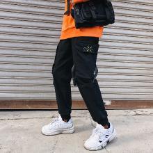 工装裤男士潮牌港风宽松哈伦裤春季新款百搭束脚裤chic休闲裤子男MJ-K603