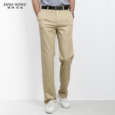 迪仕尼奴春季新品男士休閑褲寬松高腰深檔純棉褲子夏季薄款長褲8452D