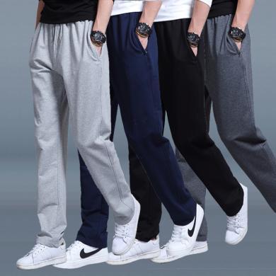 搭歌2019新款男士休闲裤运动裤宽松直筒男裤针织卫裤跑步男装运动长裤LQYS49