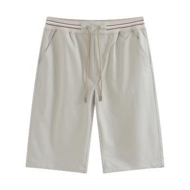 迪仕尼奴夏季新款短裤男士宽松直筒五分裤松紧腰休闲裤455D