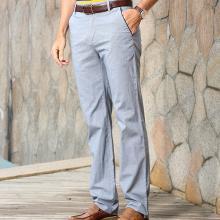 迪仕尼奴夏季新款商务休闲长裤 男裤纯色经典裤爸爸装8418D