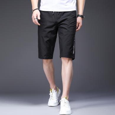 搭歌2019夏季新款男士潮流短褲青年男式時尚休閑男褲簡約舒適Y1526-9127