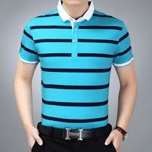 梵蒂古琦短袖t恤衫纯棉新款翻领短袖POLO衫条纹17399