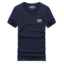 战地吉普 夏季新款胸前字母图案男士短袖T恤休闲简约打底衫上衣