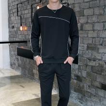 DupuSen度普森长袖套装男卫衣秋冬新款男装青年跑步健身休闲运动套装男式两件套AP-APTZ8369