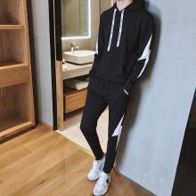 DupuSen度普森学生套装两件套运动套装韩版跑步套装两件套情侣套装潮流休闲套装两件套长袖套装百搭AP-APTZ8383
