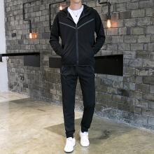 DupuSen度普森秋季外套男韩版学生男款卫衣2019男潮男士休闲装套装男套装青年AP-APTZ8363
