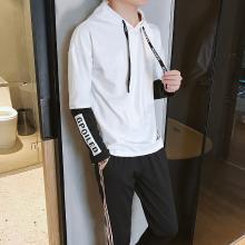 DupuSen度普森秋季男士卫衣套装男连帽韩版潮流帅气一套衣服男休闲运动服两件套AP-APTZ8361