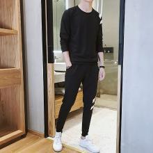 DupuSen度普森男士秋季新款2019休闲运动套装韩版青年卫衣长裤时尚修身百搭潮流AP-APTZ8303
