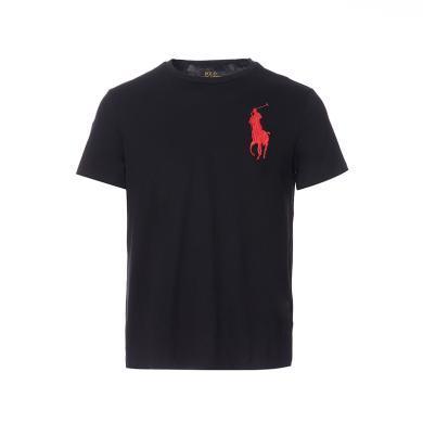 [支持購物卡]美國正品 POLO Ralph Lauren 拉夫勞倫男裝夏季短袖經典大馬標T恤衫黑色修身版