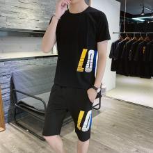度普森男裝短袖套裝男夏季運動服青少年短袖套裝男韓版夏季休閑兩件套中學生半袖t恤帥氣衣服一套短袖套裝HH-A222