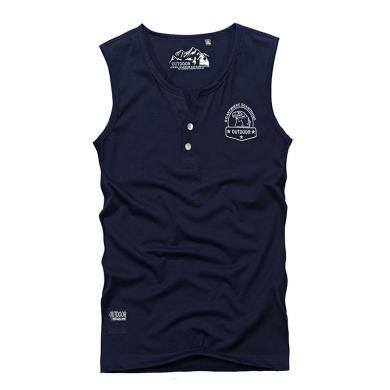 戰地吉普 背心男夏季新款時尚青年透氣修身運動健身緊身無袖T恤男