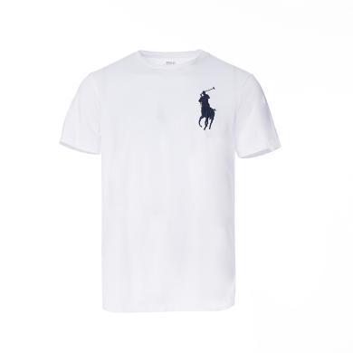 [支持购物卡]美国正品 POLO Ralph Lauren 拉夫劳伦男装夏季短袖经典大马标T恤衫白色