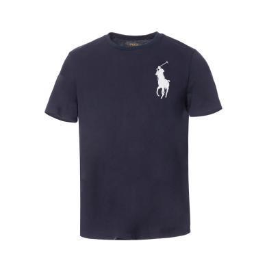 [支持購物卡]美國正品 POLO Ralph Lauren 拉夫勞倫男裝夏季短袖經典大馬標T恤衫藍色