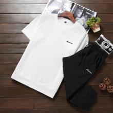 卓狼夏季男士套装潮流短袖T恤短裤潮舒适运动休闲圆领宽松两件套TZ902dl