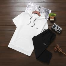 卓狼短袖套裝男士夏季衛衣連帽運動套裝韓版潮流休閑裝兩件套TZ901dl