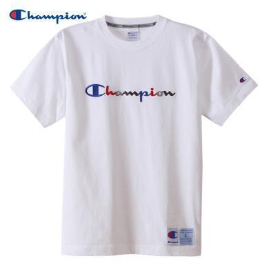 [支持购物卡]正品Champion冠军 ACTION STYLE草写LOGO休闲圆领T恤男女同款 白色