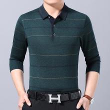 富贵鸟男装2019年秋季新款长袖T恤百搭打底衫商务休闲针织衫212GB1928
