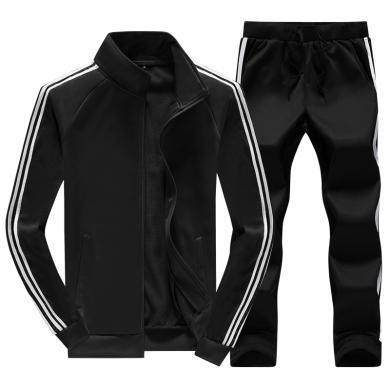度普森男装 运动服男士长袖两件套套装休闲运动套装男春秋季款运动服套装跑步套装2019新款运动服男男士运动服MF-6888