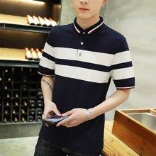 卓狼夏季男士短袖T恤韩版修身夏天POLO衫男体恤潮男装上衣服T1711tqc