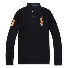 [支持购物卡]美国正品 Polo Ralph Lauren 新品拉夫劳伦男士纯棉大马标长袖polo衫