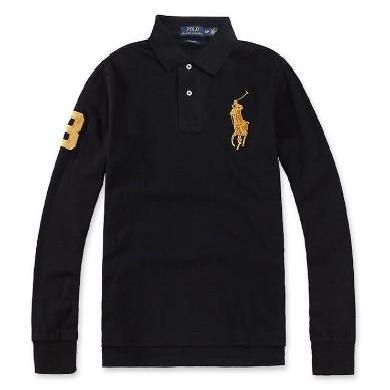 [支持購物卡]美國正品 Polo Ralph Lauren 拉夫勞倫男士純棉大馬標長袖polo衫修身版