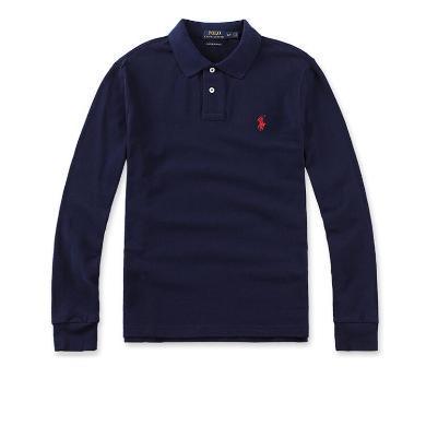 [支持購物卡]美國正品POLO Ralph Lauren拉夫勞倫經典男款小馬標長袖純棉翻領修身Polo衫