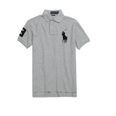 【支持购物卡】美国正品 Polo Ralph Lauren 新品拉夫劳伦男士纯棉大马标短袖polo衫灰色