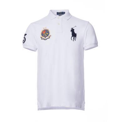 [支持購物卡]美國正品 POLO Ralph Lauren 拉夫勞倫男裝夏季短袖刺繡雙標POLO衫白色