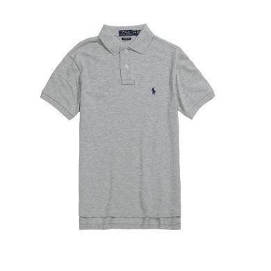 【支持购物卡】美国正品 Polo Ralph Lauren 新品拉夫劳伦男士纯棉小马标短袖修身版polo衫灰色