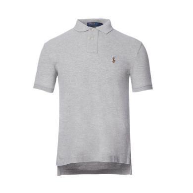 [支持購物卡]美國正品 POLO Ralph Lauren 拉夫勞倫男裝夏季短袖彩色小馬標修身版POLO衫灰色