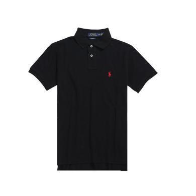 【支持购物卡】美国正品 Polo Ralph Lauren 新品拉夫劳伦男士纯棉小马标短袖polo衫黑色
